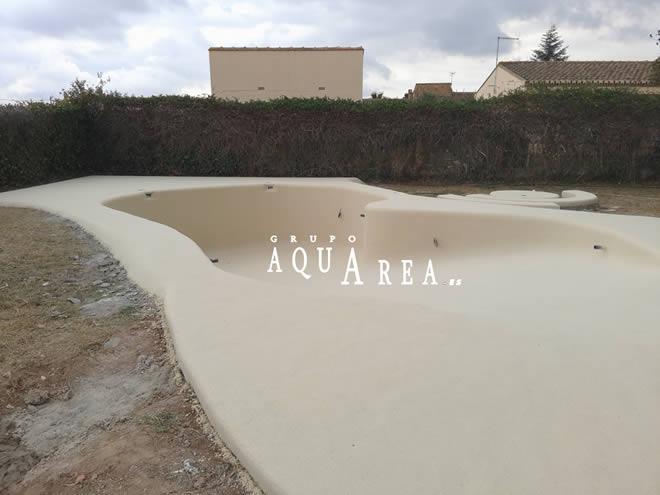 Recubrimiento piscina de arena grupo aquarea for Recubrimientos para piscinas