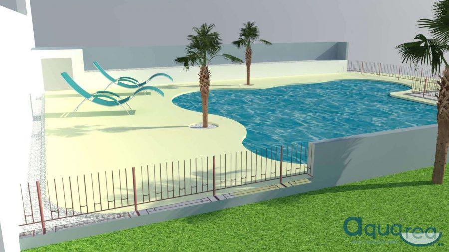 3d piscina arena